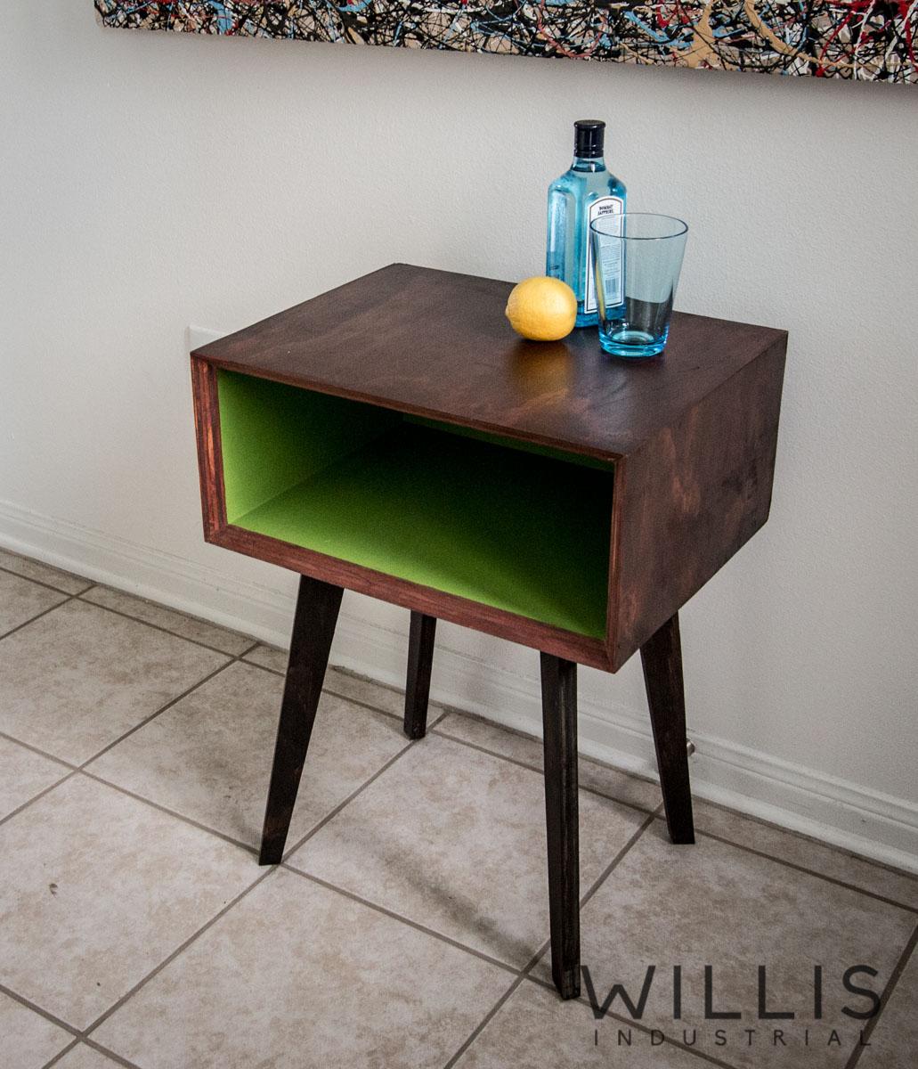 Willis Industrial Furniture   Rustic, Modern Furniture   Mid Century Nightstand