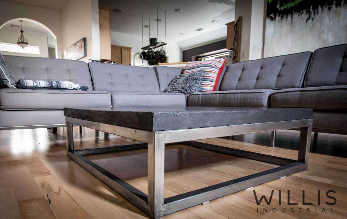 Willis Industrial Furniture | Rustic, Modern Furniture | concrete table 40 x 40