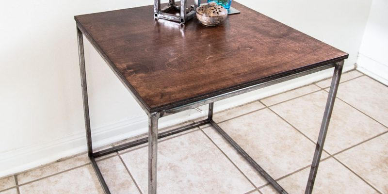 Steel Framed Cube Table