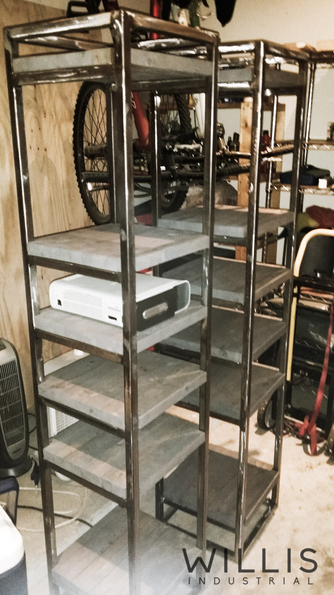 Willis Industrial Furniture | Rustic, Modern Furniture | game console storage shelves