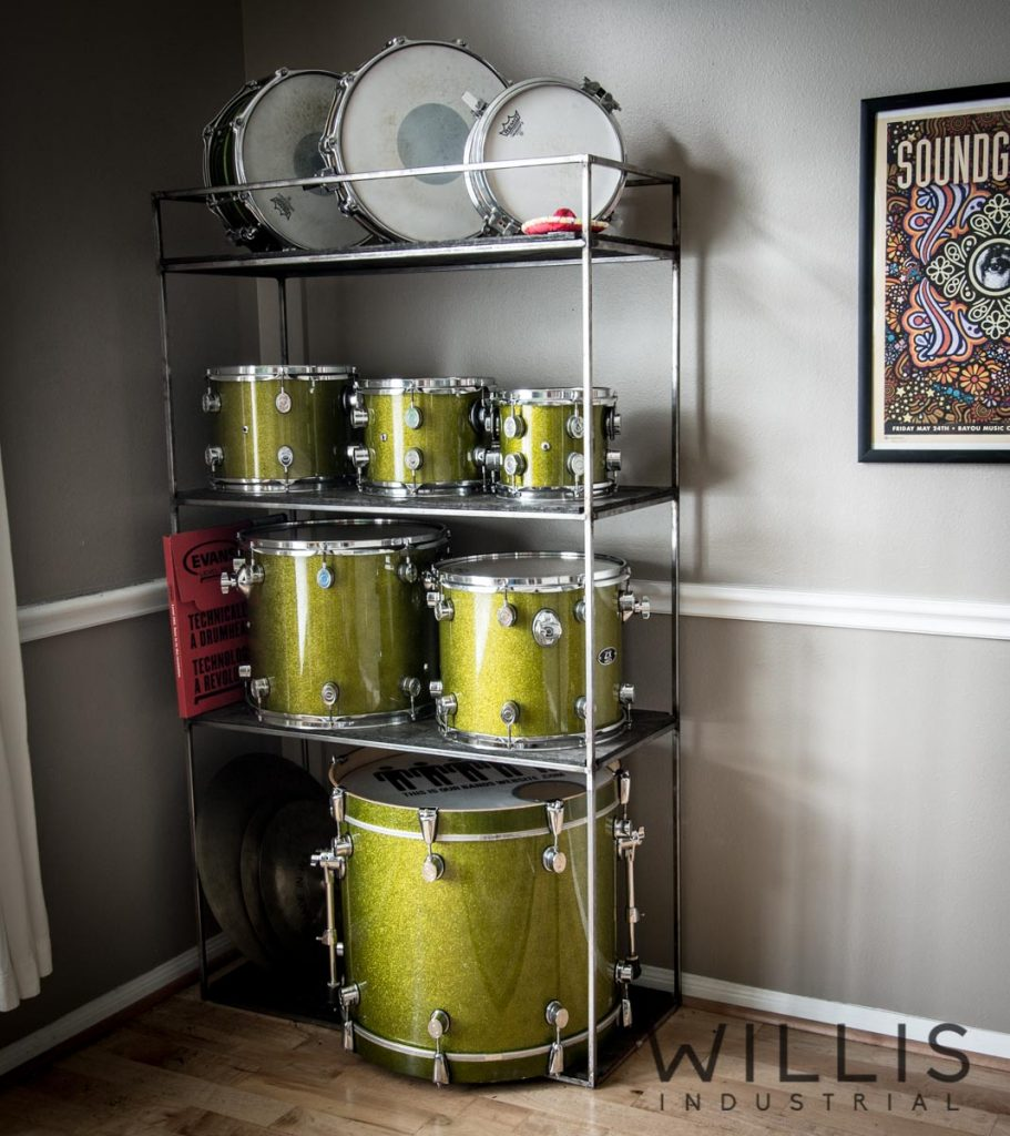 Willis Industrial Furniture | Rustic, Modern Furniture | drum shelving