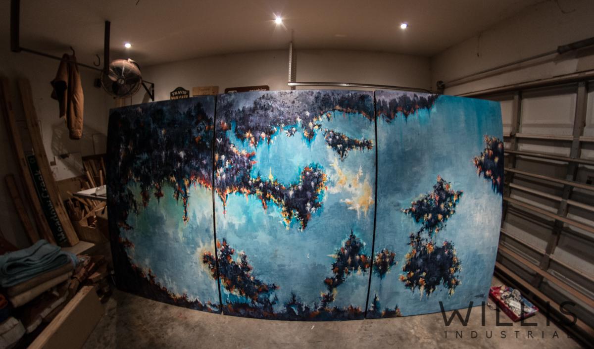Willis Industrial Furniture | Rustic, Modern Furniture | FA_00001 Mills Living Room Painting