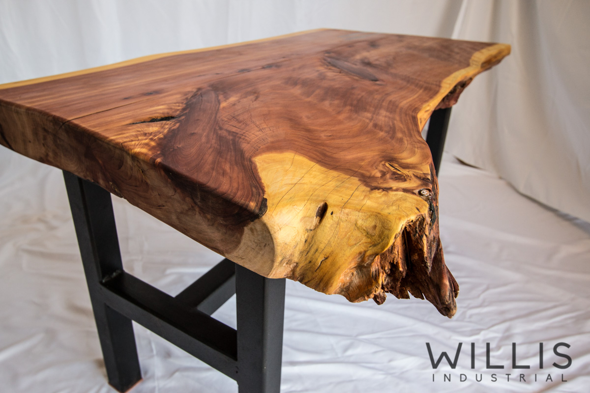 Willis Industrial Furniture | Rustic, Modern Furniture | Cedar Open Edge Table