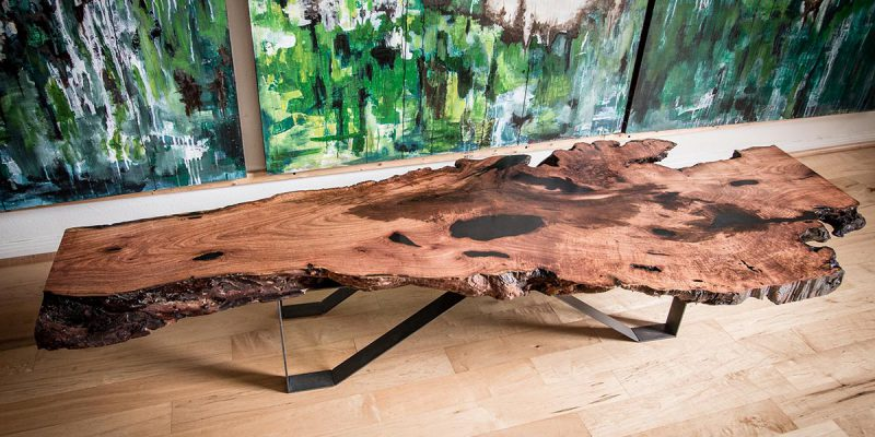 Large Mesquite Low Slung Coffee Table